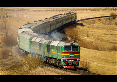 Spring 2010 (Temuulen.B) Tags: railroad train spring mongolia locomotives 2m62  mongolianrailway