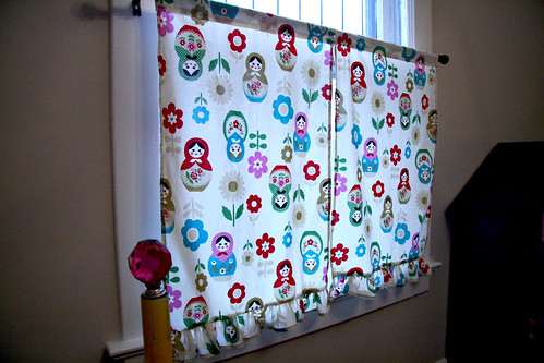 Eliza's Nesting Doll Cafe Curtain