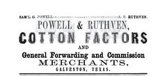 Powell & Ruthven advertisement in the Texas Almanac