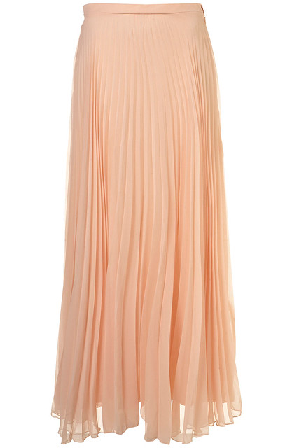 Topshop_Pleated Chiffon Skirt by Rare**