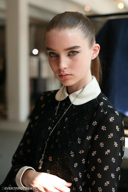 faces models makeup fashionweek rodarte alimichael jongurinsky
