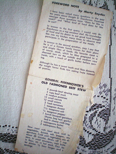General Eisenhower's Old Fashioned Beef Stew