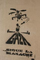 Gaza (Zoe_Withers) Tags: graffiti sevilla spain protest seville gaza helecopter sigue masacre
