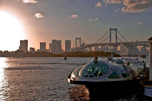 Sunset in Odaiba
