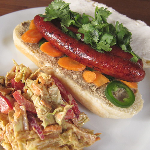 Banh Mi Dog & Asian Peanut Slaw