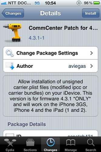 11 CommCenter Patch on Cydia