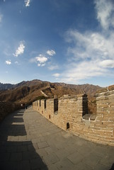Fisheye Mutianyu wall (cheesemonster) Tags: china old wall ancient historic unesco greatwall  touristtrap thewall touristattraction mutianyu olde worldheritage rebuilt antiquity greatwallofchina yeolde wallofchina   diemauer  heritagesite featofengineering lpadventure thelongwallof10000