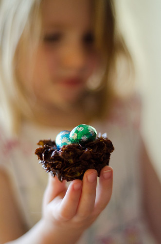 Easter nests and the assistant baker