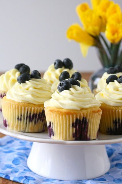 Lemon Blueberry Cupcakes | Annie's Eats