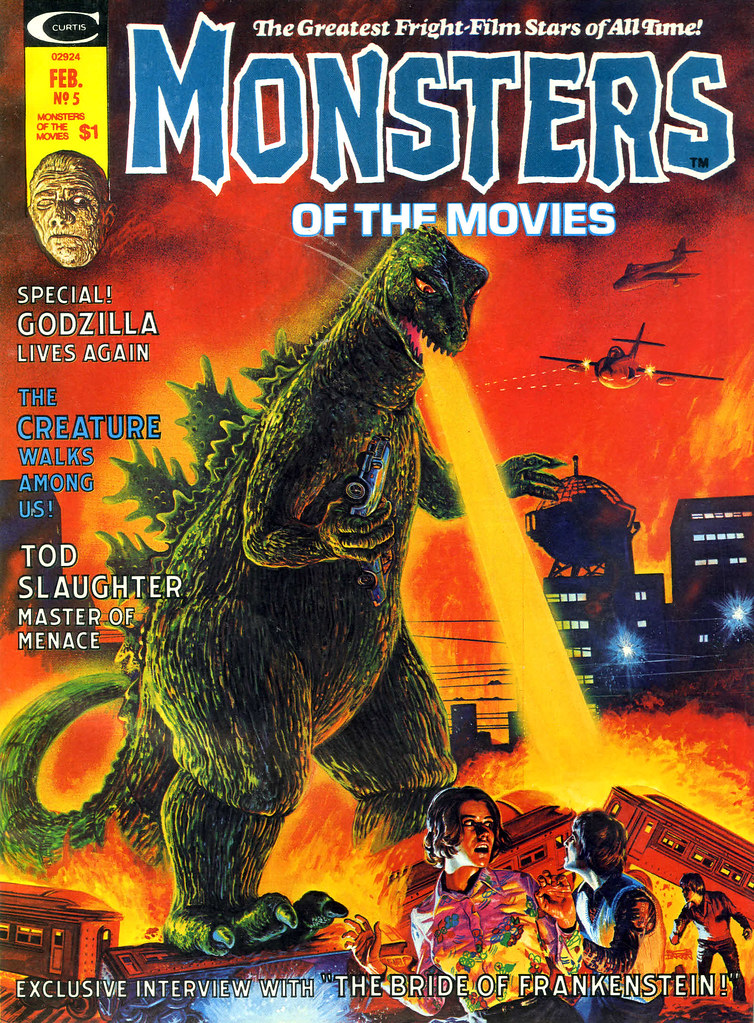 Monsters Of The Movies, Issue 5 (1975) Cover Art by Bob Larkin