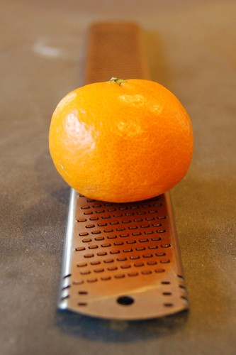 Zesting the orange by Eve Fox, Garden of Eating blog, copyright 2011