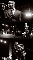 Raphael Saadiq (optically active) Tags: seattle music monochrome collage happy washington concert band soul toned 2009 rb bumbershoot energetic raphaelsaadiq