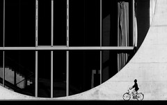 A sense of wonder... (Gremxul) Tags: light people urban blackandwhite bw black detail berlin texture monochrome lines bicycle architecture composition contrast canon cycling cityscape geometry curves highcontrast shades shade cycle curve paullbehaus g12 stephanbraunfels blackwhitephotos nikkor18200mm urbandetail d7000 gremxul nikond7000 canong12 canonpowershotg12 powershotg12
