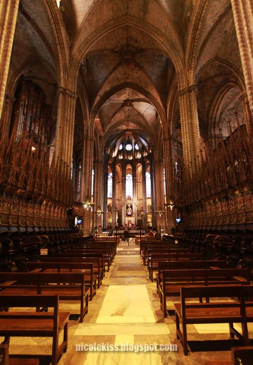 Choir seats at the Cathedral of Santa Eulalia