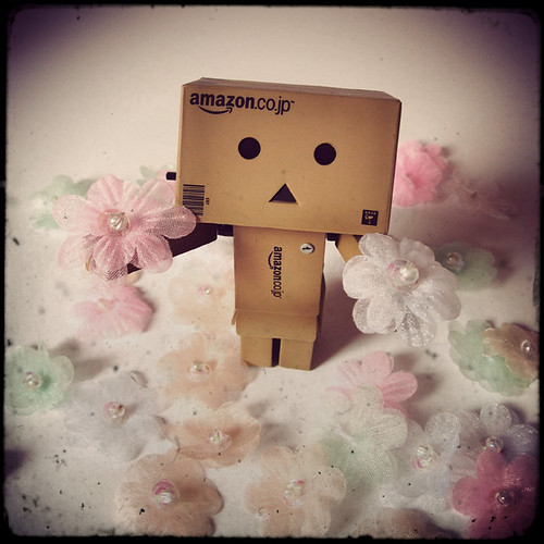Danbo with plastic flowers!