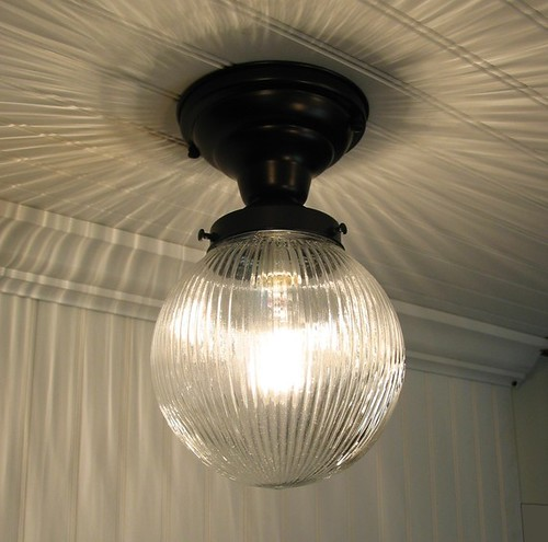 Cary's Mill Clear Holophane Ceiling Light