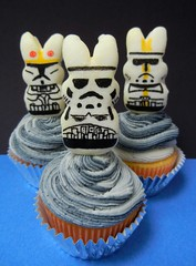 Peep trooper cupcakes