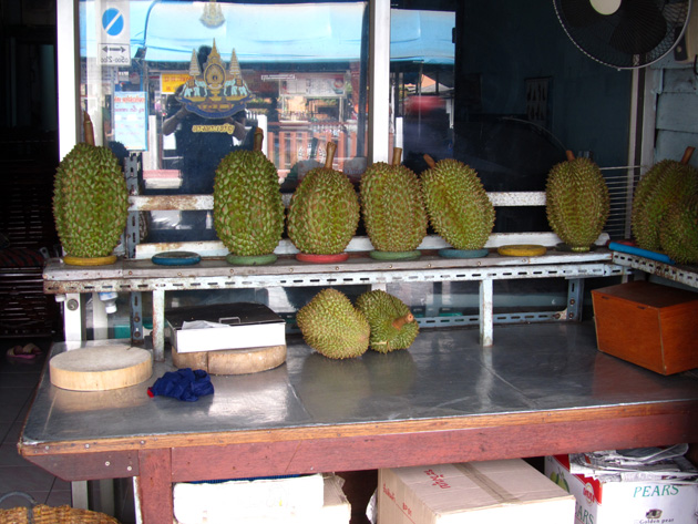 Durian outside of Loong Peeak ลุงเปี๊ยก