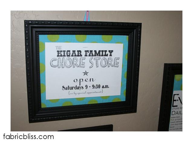 chore store signage