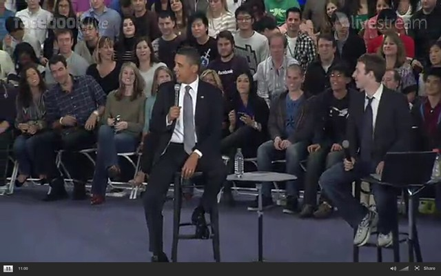 Barack Obama and Mike Zuckerberg