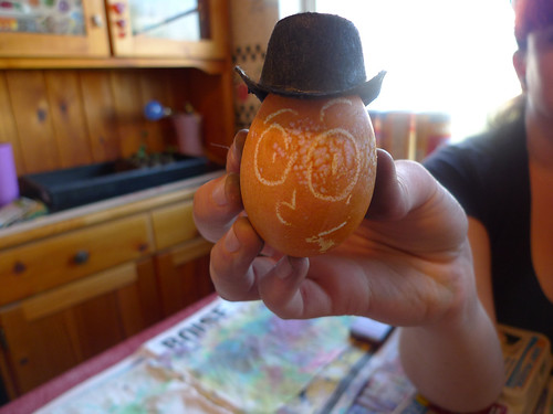 egg in a hat