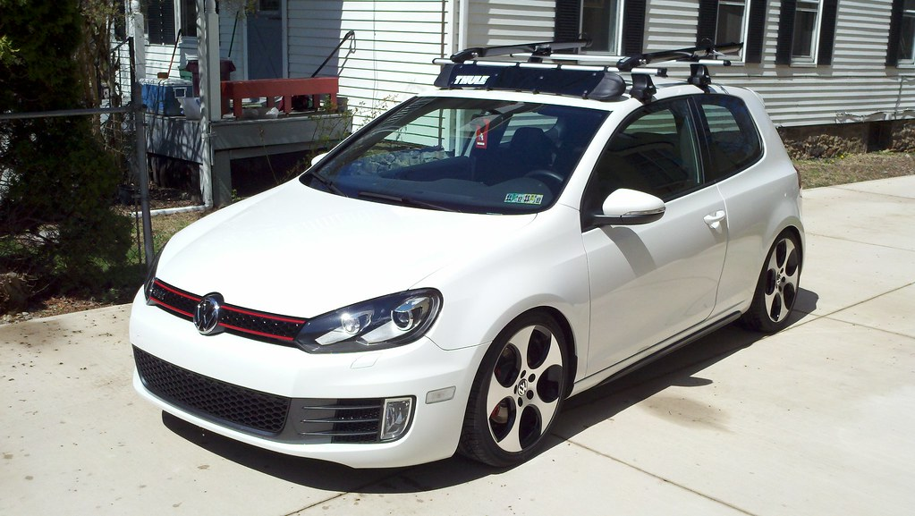 Vwvortex Com Fs Thule Aero Roof Rack Setup For Mk5 Mk6