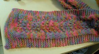 Finished, pattern closeup