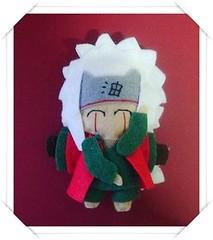 Brooch Jiraiya - Naruto (Nawincita) Tags: de broche brooch felt naruto jiraiya fieltro sannin