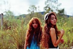 a sister's keeper. (bynurulkhairunie / Nurul Khairunie) Tags: film beauty 50mm kodak f14 borneo nikonfm10 vivi prettygirls sabahan
