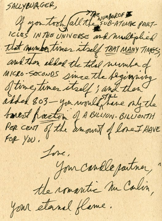george carlin letters the most romantic love letters
