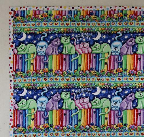 rainbow quilt back