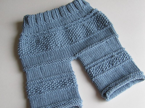 Knitted baby pants (back)