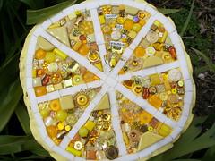 The Secret Life of Lemons (Glass Garden Creations / Sharon Kelly) Tags: art yellow lemon handmade mosaic glassgardencreations