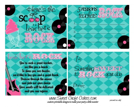 50's Teacher's Rock Printables