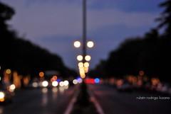 The downtown lights (EXPLORED) (Mister Blur) Tags: atardecer bokeh camellón centro d60 dusk goldenhour lights luces merida mérida mexico méxico mexique montejo nikon ocaso paseodemontejo rocoeno thebluenile thedowntownlights yucatan yucatán rubén rodrigo fotografía flicker blurry