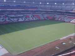 Primer día de montaje - Estadio Azteca 01