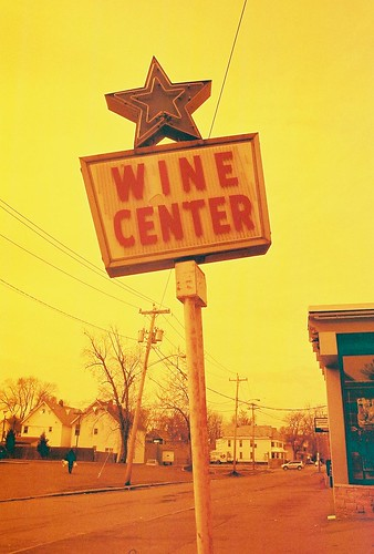 Star Wine Center, Schenectady NY, in redscale