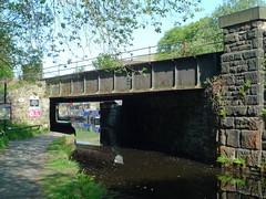 Tunnel End Railway Bridge (jrw080578) Tags: bridge trees reflections boats canal yorkshire narrowboats huddersfieldnarrowcanal