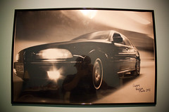 Perks of being a photographer! (happyhousze) Tags: blackandwhite bw white black cars home wall poster happy euro 5 automotive bmw 1997 series beamer audi 5series bimmer 528i eurocar automotivephotography carposter happyhousze housze