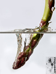 Diving Asparagus 2 (rogueslr) Tags: water photoshop canon asparagus acr splash 50d cs5