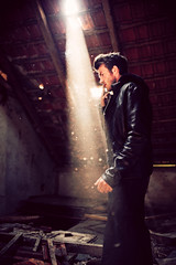 it's raining light (besimo) Tags: light urban man nature rain fashion bokeh cigarette smoke shooting f18 laurenz badrothenfelde d700 besimmazhiqi 35mm18g marcelmunich