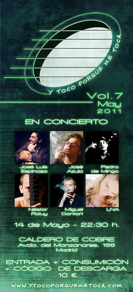 """Flyer Vol.7 14 de mayo 2011 """"Y toco porque me toca"""""""