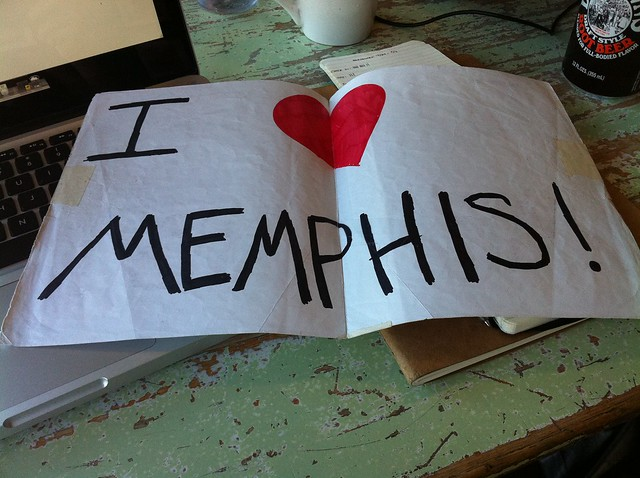 The I Love Memphis sign