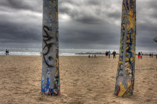 Graffiti at the beach:: HDR by PC - My Shots@Photography