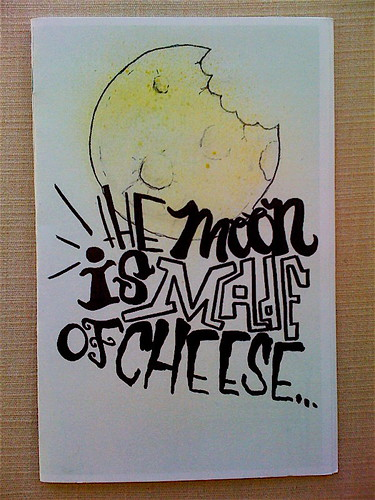 SNACKI 'The Moon Is Made Of Cheese' by billy craven