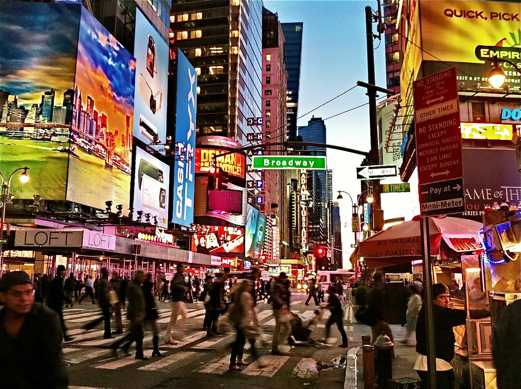 42nd Street and Broadway, New York City