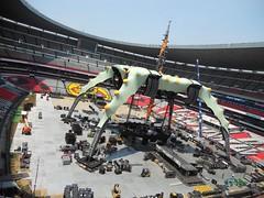 Septimo día de montaje - Estadio Azteca 45