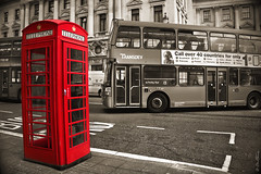 Telephone (Ben Heine) Tags: road street door city uk greatbritain england urban bus london texture tourism sign sepia architecture photography drive coach call phone angle unitedkingdom box crash pov postcard telephone centre transport ad columns culture talk style wideangle center oldschool appel advertisement communication transportation londres photoediting angleterre british porte drwho tradition coincidence publicit policebox speak connection ville faade oldfashioned collision bote straat selectivecolor cabine colonnes postprocessing cartepostale cabinetlphonique hasard selectivecoloring theartistery grandebretagne redbooth transdev benheine samsungimaging nx10 callover40countries