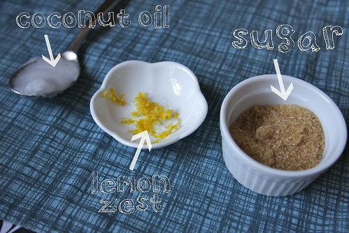 coconut lemon scrub