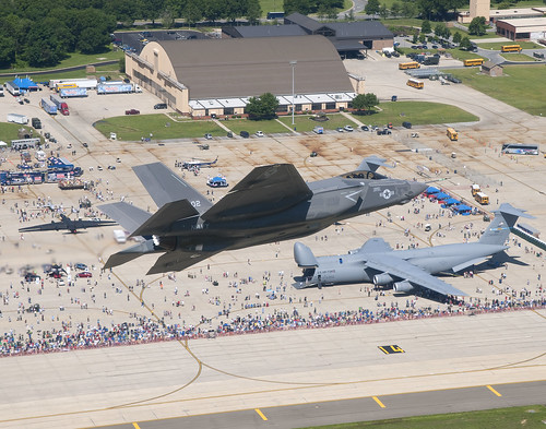 F-35C Fly Over at the Andrews AFB Joint Service Open House